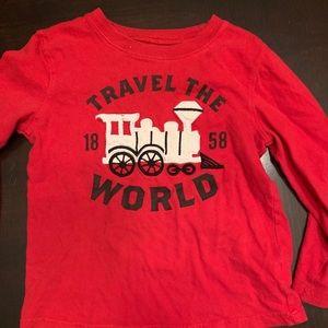 Red train shirt
